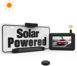 Solar Wireless Backup Camera with Stable Digital Signal, Wireless Back up Camera with Universal Bracket, Waterproof Rear-View Camera BOSCAM SunGo