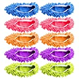 KAIFANG - Zapatillas de Limpieza para el Suelo, para Baño, Oficina, Cocina, Limpieza de la casa, 5 Pares de Zapatillas para Quitar el Polvo y Quitar el Polvo
