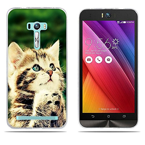 DIKAS für Asus ZenFone Selfie ZD551KL Hülle, Transparent Ultra Slim Tasche Etui Weich Flexibel Crystal Clear Premium TPU Silikon Bumper Schutzhülle für Asus ZenFone Selfie ZD551KL- Pic: 10