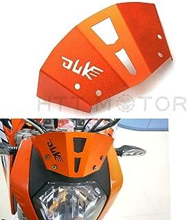 HTTMT 300DUKE125- Orange Aluminum Wind shield Windscreen Compatible with KTM 125 200 250 Duke 390 Duke 2011-16