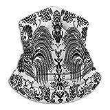 Cazzi in grappoli di Bacche Bantam ucraino Popolare folclore fiaba Tradizione Arte Bianco e Nero Scaldacollo Scaldacollo Scaldacollo