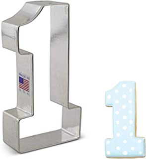 """Ann Clark Cookie Cutters Large Number 1 Cookie Cutter, 4.5"""""""