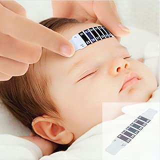 10Pcs Baby Kids Forehead Strip Stickers Thermometer Body Oxter Strip Fever Safety Healthy Temperature Test