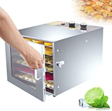 MissZZ Déshydrateur Alimentaire Fruit Jerky Plus 6-6 Plateaux, 600W, réglages de température, réglages de la minuterie, Pl...