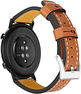20mm Leather Watch Strap Quick Release Replacement Watchband Smart Watch Band for Men Women Compatible with HUAWEI WATCH G...