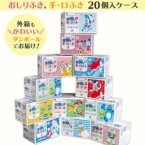 『トイ・ストーリー 純水99% おしりふき 80枚入×20個 (1600枚) 日本製 パラベンフリー』のトップ画像