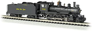 Bachmann Industries #182 Baldwin 4-6-0 Steam Locomotive and Tender DCC Equipped Nickel Plate Train Car, N Scale