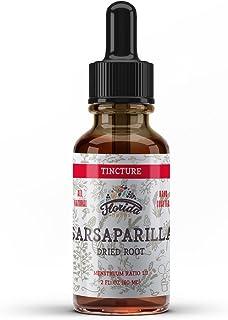 Sarsaparilla Tincture, Organic Sarsaparilla Extract (Smilax Medica) Dried Root, Non-GMO in Cold-Pressed Organic Vegetable ...