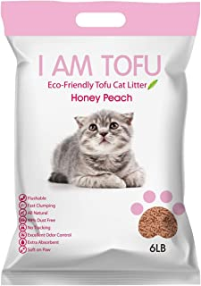 K KAMY'S ZOO I AM TOFU Renewed- Tofu Cat Litter,  Natural Flushable Extra Clumping Pellet Litter