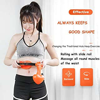 Hula Hoop, Tire Massage, Fitness Hula Hoop, Adjustable Size, Will Not Drop Hula Hoop, Intelligent Counting and Automatic W...