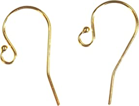 14k Yellow Gold-Filled Ball End Ear Wire 12 Pieces