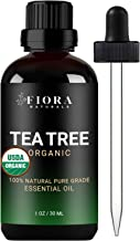 Tea Tree Essential Oil by Fiora Naturals- 100% Pure Organic Tea Tree Oil, for Face, Hair, Skin, Acne, Scalp, Foot and Toen...
