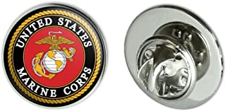 a33870c45729 GRAPHICS & MORE Marines USMC Emblem Black Yellow Red Officially Licensed Metal  0.75