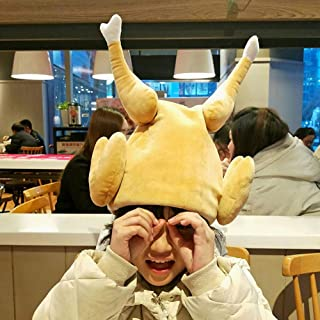 Plush Turkey Hats Men's Roasted Turkey Hat Thanksgiving Day Props Hats Turkey Hat Electric Singing Dancing Funny Tricks Holiday Party Supplies Toys Novelty Cosplay Turkey Hat