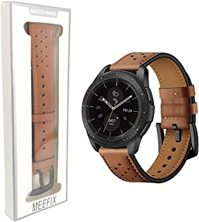 Leather Watch Band Bracelet Strap Wristband For Samsung Galaxy Smart Watch Gear S3 Frontier Classic 22mm (Brown)