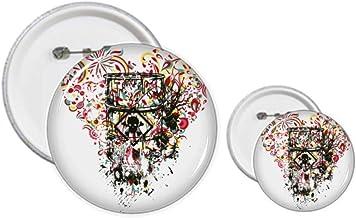 Graffiti Street Heart Art Illustration Pattern Pins Badge Button Design Kit Craft Sets