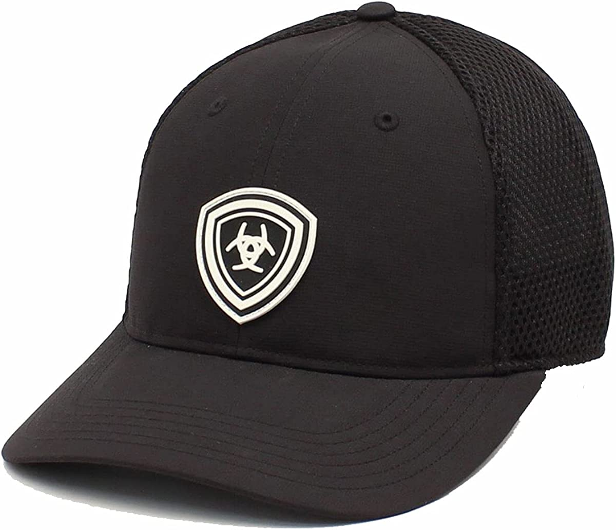 ARIAT Men's Rubber Shield Adjustable Cap, Black