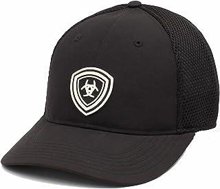 قبعة الرجل المطاطية القابلة للتعديل من ARIAT للرجال، أسود