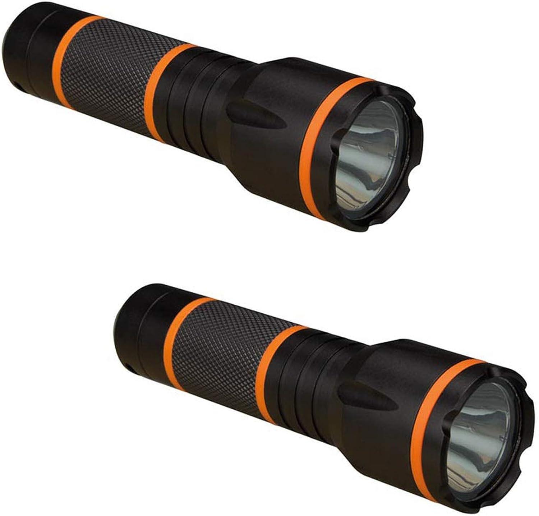 2er Set wasserfeste und und und stoßfeste Taschenlampen mit 3W CREE LED, Leuchtweite 150m B074J8JXN5  Neues Produkt 5a9a9a