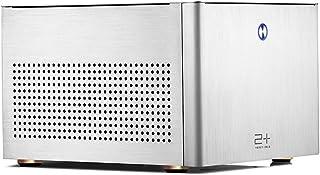 GOLDEN FIELD N-2S Micro ATX/Mini ITX Mid-Torre Caja de la Computadora Aluminio Plata Caja PC para Cajas de Ordenador de Sobremesa