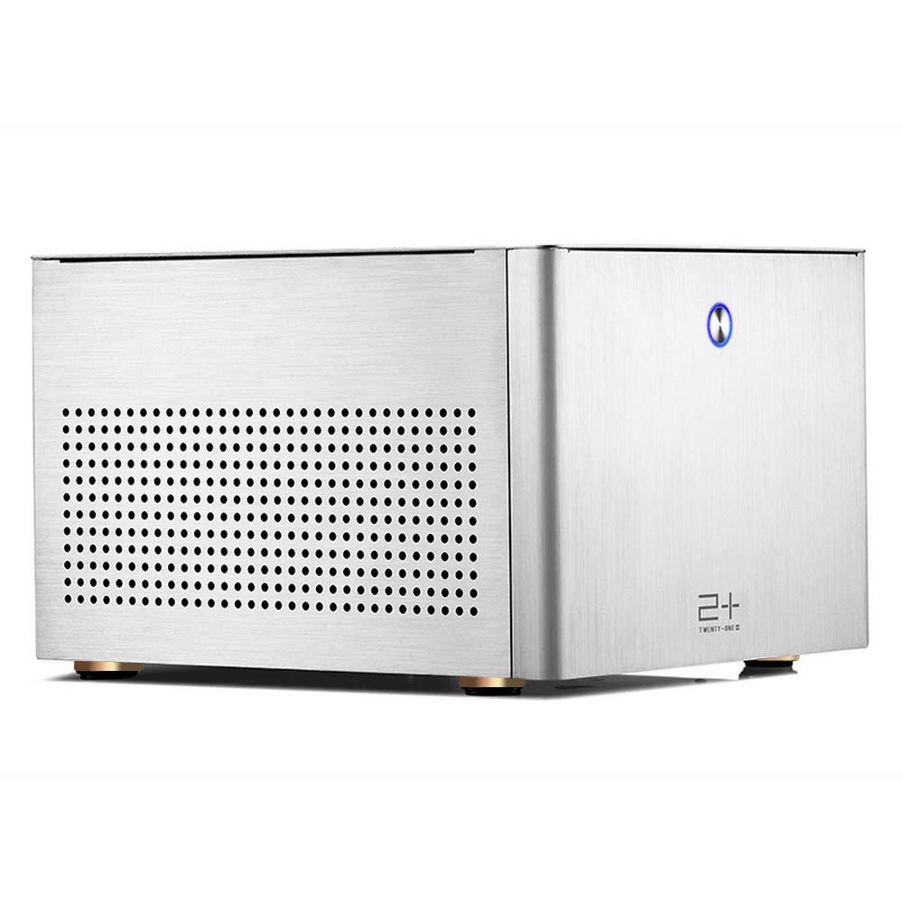 GOLDEN FIELD N-2S Micro ATX/Mini ITX Mid-Torre Caja de la Computadora Aluminio Plata Caja PC para Cajas de Ordenador de Sobremesa: Amazon.es: Informática