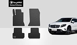 ToughPRO Floor Mats Set (Front Row + 2nd Row) Compatible with Mercedes-Benz GLA180 GLA200 GLA250 GLA45 AMG - (Made in USA) - Black Rubber - 2014, 2015, 2016, 2017, 2018, 2019, 2020