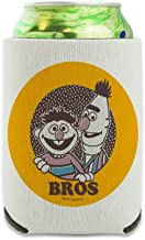 Sesame Street Bert and Ernie Bros Can Cooler - Drink Sleeve Hugger Collapsible Insulator - Beverage Insulated Holder