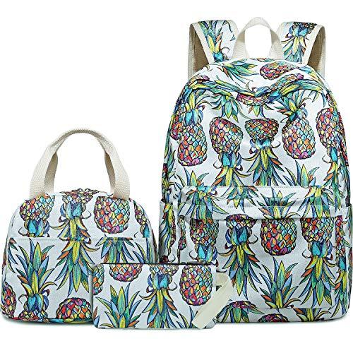 Bluboon Schulrucksack-Set für Mädchen und Damen, Laptop, Büchertasche, lässiger Tagesrucksack, passend für 15 Zoll Laptops mit Lunch-Tasche und Bleistifttasche