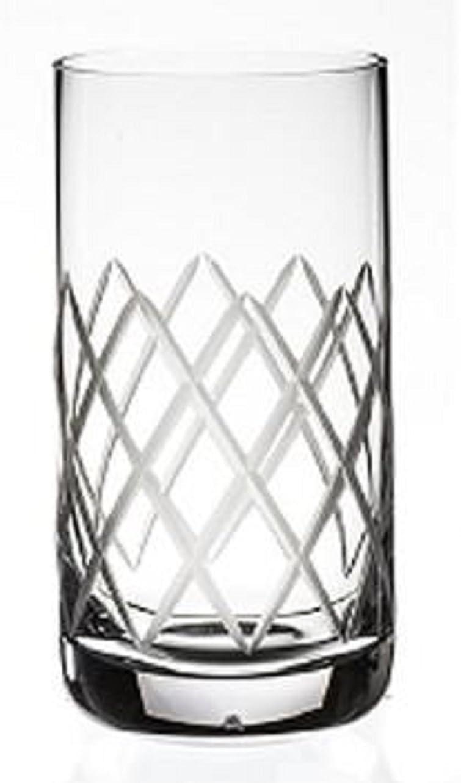 不実発明アルミニウムSteelite Ronaダイヤモンドカット12.25オンスHighball Glasses ,セットof 6