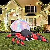 6ft lungo ha condotto il ragno gonfiabile di Halloween delle luci di vorticante, esplode il ragno di Halloween con il nero e rosso strisciato…