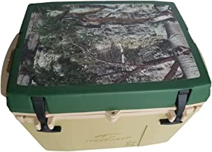 Mossy Oak Cooler with Mountain Country Lid Graphic, Tan, 27 Quart