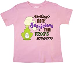inktastic Nothing's More Suspicious Than Frog's Breath Toddler T-Shirt