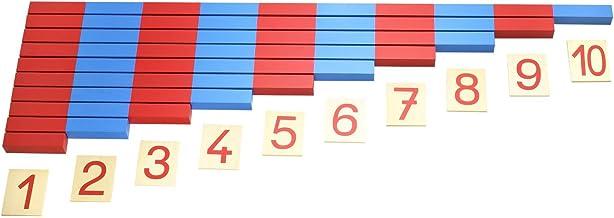 Hölzerne Montessori Red /& Blue Rods Lernen /& Bildung Klassische Kinder