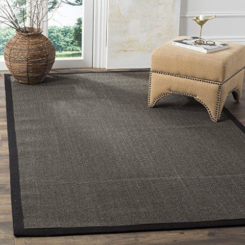 Safavieh Natural Fiber Collection NF441D Hand Woven Charcoal Sisal Area Rug (3' x 5')