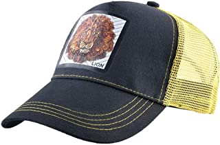 Unisex Animal Mesh Trucker Hat Lion Adjustable Snapback Baseball Caps