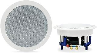 Herdio 300W Bluetooth 天井埋め込み型スピーカー 2ウェイ/ラウンド型/1本 ホワイト 18.5cm 8Ω 天井スピーカー