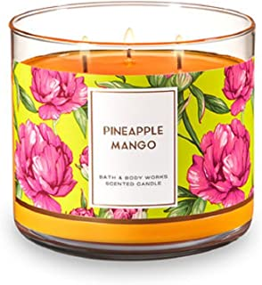 Bath and Body Works 3 Wick Scented Candle Pineapple Mango 14.5 Ounce