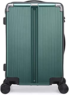 SMLCTY Small Suitcases Cabin Size,carry On Suitcase,ABS+PC Aluminum Frame Waterproof Scratch-Resistant Lightweight Portable Silent Universal Wheel (Color : Green, Size : 24 inch)