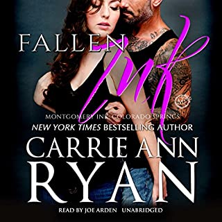 Fallen Ink     Montgomery Ink: Colorado Springs, Book 1              By:                                                                                                                                 Carrie Ann Ryan                               Narrated by:                                                                                                                                 Joe Arden                      Length: 5 hrs and 54 mins     71 ratings     Overall 4.7