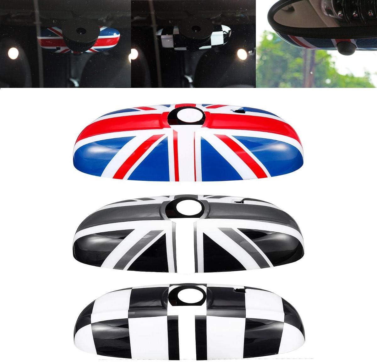 Funda para espejo retrovisor interior de coche con bandera del Reino Unido para BMW Mini Cooper F55 F56 F54 F60 versi/ón de gama alta