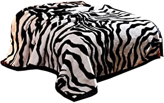 Throw Blanket Blanket Double Coral Fleece Blanket Zebra Pattern Blanket Warm Padded Sofa Blanket (Color : Black+White, Size : 150200cm)