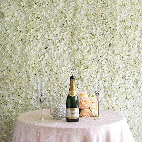 BalsaCircle 4 Cream Silk Hydrangea Flower Mat Wall Backdrop Photography Panel - Wedding Party Centerpieces Arrangements Bouquets