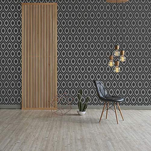 Crown M1161 - Papel pintado para pared, color negro
