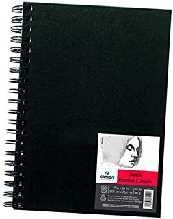 Canson Sketch Book Paper Pad, 65 Pound, 7 x 10 Inch (80 Sheets)