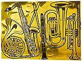 Gold Foil Musical Instrument Cutouts (15/Pkg)