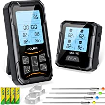 JOLIKE Wireless Meat Thermometer Oven Thermometer 328ft Remote Timer & 4 Probes for Smoker Grill Digital Meat Cooking Jam ...