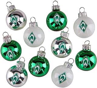 Werder Bremen Mini Weihnachtskugeln, Christbaumschmuck 10er-Set 21-83022