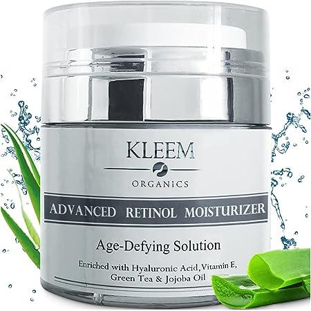 Retinol Anti-Wrinkle Night Moisturizer Cream for Face, Neck & Décolleté with 2.5% Retinol and Hyaluronic Acid - Anti Aging Retinol Moisturizer Cream for Men & Women to Reduce Wrinkles & Dark Spots