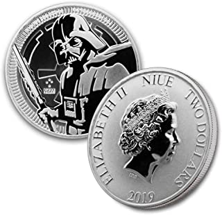 2019 NU 1 oz Silver Star Wars Darth Vader $2 Brilliant Uncirculated