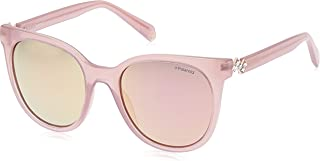 Polaroid Sunglasses Women's Pld4062sx Polarized Square Sunglasses, Pink, 52 mm